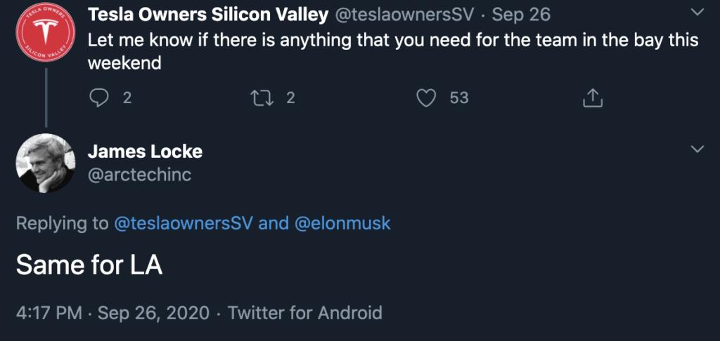 Terzo trimestre ottimistico per Tesla tweet