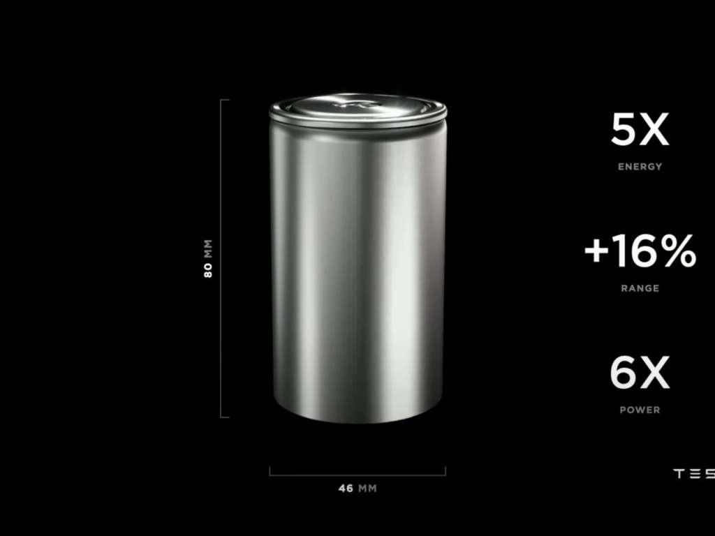 Le novità presentate al battery day, la cella 4680
