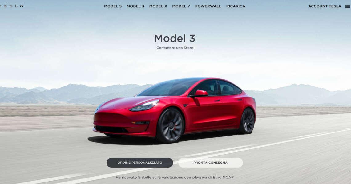 Aggiornamenti estetici model 3
