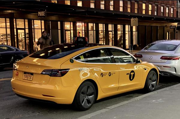 Tesla Model 3 Taxi