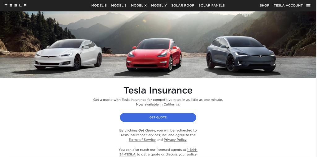 Tesla Insurance si espande sito web