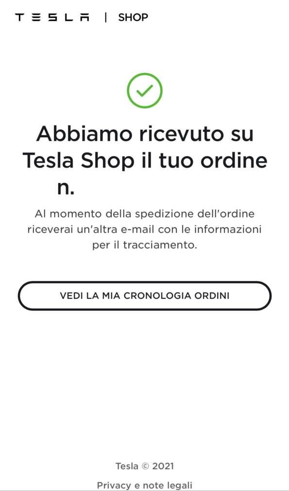 Tesla Shop apre all'Italia Ordine