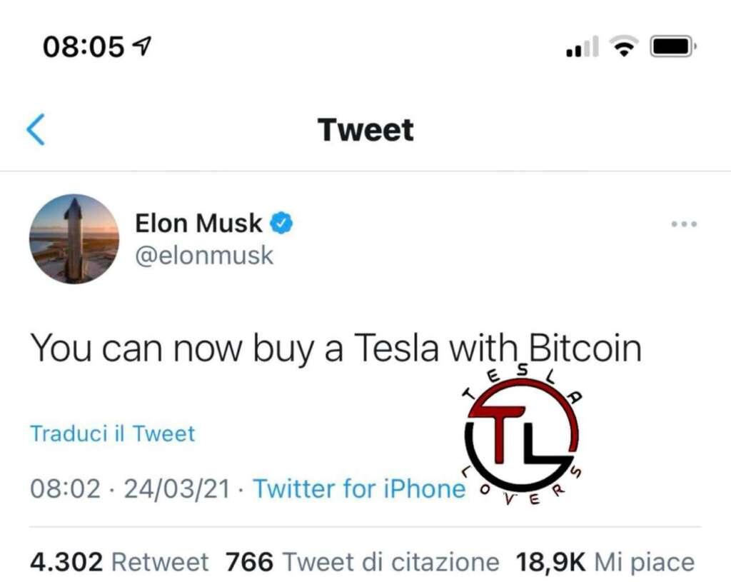 Acquistare una Tesla con i Bitcoin