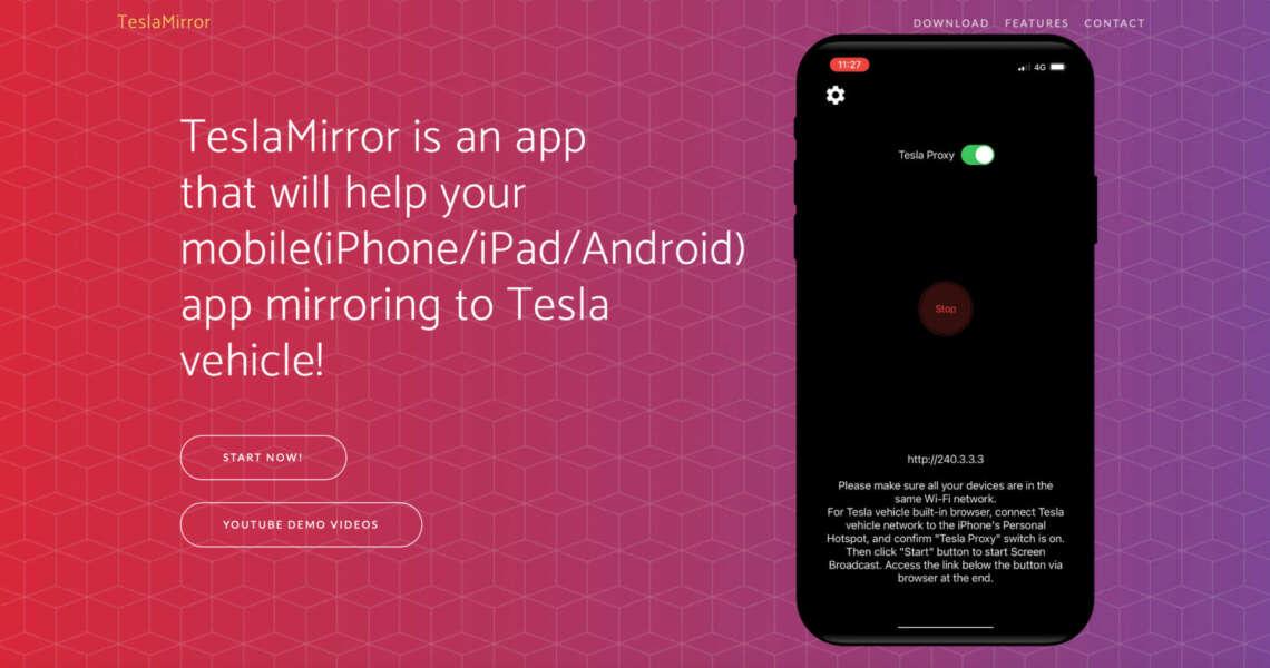 Finalmente le app arrivano sullo schermo tesla mirror