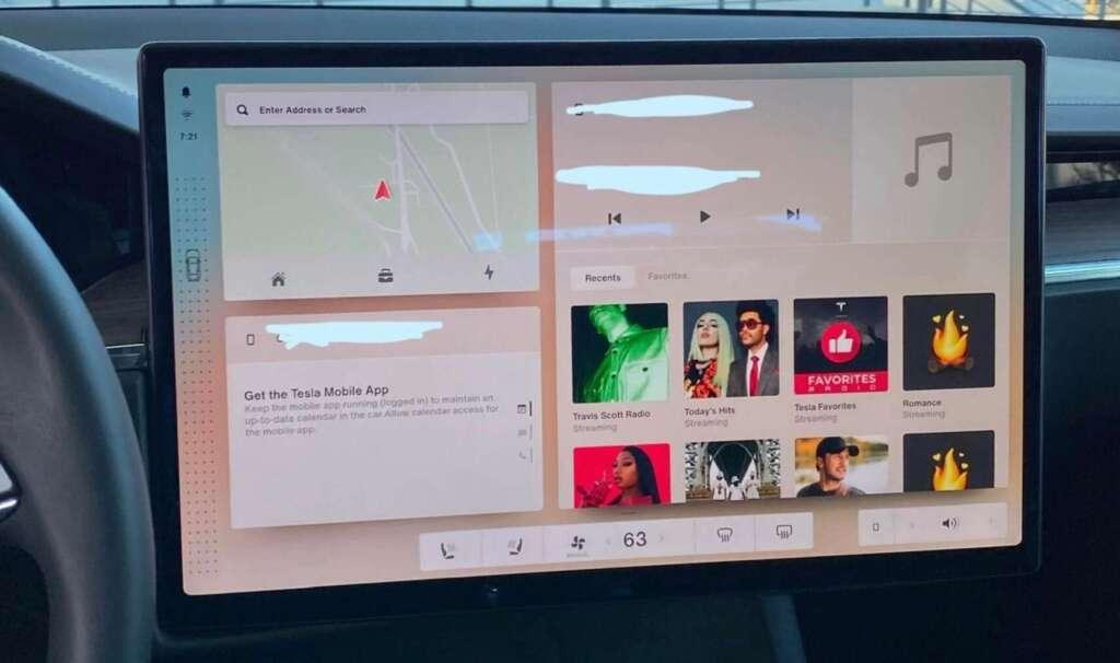 Tesla V11 - interfaccia grafica home